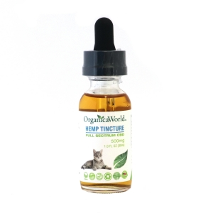 Hemp Tincture for Small Animals 500mg, 1.0 fl oz