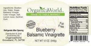 Blueberry Balsamic Vinaigrette