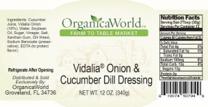 Vidalia Onion & Cucumber Dill Dressing