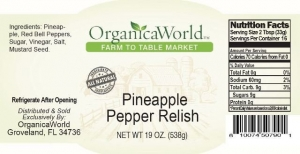 Pineapple Pepper Relish