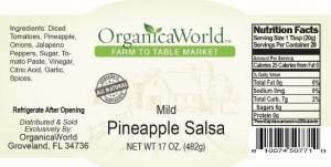 Mild Pineapple Salsa